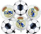 (6) Pc Real Madrid Soccer Ball Balloons Party Birthday Supplies $8.99 USD on eBay