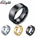 Mens Rings Wedding Band Pure Carbide Tungsten Engagement Ring Jewelry 8 Mm