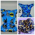 SassyCloth one size pocket cloth diaper with Batman cotton print.