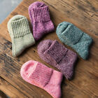 5 Colors 1Pair Vintage Women Winter  Soft Warm Wool Harajuku Thick Solid Socks