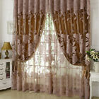 Peony Pattern Voile Curtains Room Window Curtain Tulle Sheer Curtains Christmas