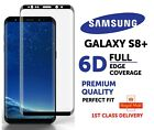 6D Full Edge Cover Screen Protector 9H Tempered Glass for Samsung S8 Plus- Black