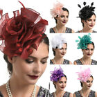 Women's Fascinator Hat Flower Ribbons Feathers Headband Cocktail Prom Tea Party