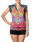 Smash Barcelona S-XXL UK 10-18 RRP �53 Carme Blouse Tropical Floral Sheer