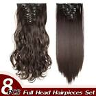 Real Thick CLIP IN HAIR EXTENTIONS 8pcs  FULL HEAD as Human Hair Piece New Set