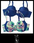 AVON LAURA 2-PIECE UNDERWIRE BRA SET TROPICAL BLUES.