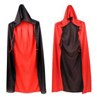 Christmas Black Red Vampire Cape Dracula Devil Cloak Kids Fancy Dress Costume UK