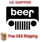 """2X - 6"""" for Jeep Beer headlight decal Pick Color US SHIPPER FREE SHIPPING"""