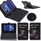 "New For 10"" 10.1"" Tablet Micro USB Wired Keyboard Folding PU Leather Case Cover"