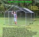 Kyпить Large Walk in Chicken Coop Hen House Enclosure Backyard Poultry Cage w/ Cover XL на еВаy.соm