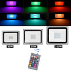 RGB Flood Light 100W 50W 30W Outdoor Color Changing Lights Remote Control Party