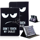 """For 7"""" 10"""" 10.1"""" Inch Android Tablet Universal Folio PU Leather Case Cover Gift"""