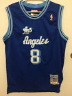 NWT Kobe Bryant #8 Los Angeles Lakers Blue Men's Stitched Vintage Retro Jersey on eBay