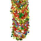 Christmas 2.7 Metre Wired Shiny Foil Star Garland - Red Gold Green - Choose Type