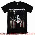 JIMI HENDRIX USA FLAG PUNK ROCK T SHIRT MEN'S SIZES image