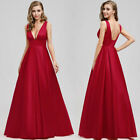 Ever-Pretty US Elegant Deep V-Neck Long Wedding Dress A-Line Celebrity Prom Gown
