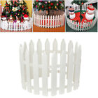 10-50pcs Garden Picket Fence Christmas Fencing Lawn Edging Home Yard Tree Fence