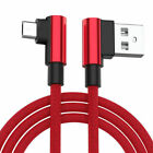 Red L-Shape Braided Data Sync Charging Cable For Samsung Galaxy W