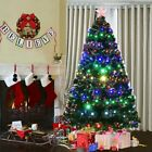 5/6/7ft Pre-Lit Artificial Christmas Tree Premium Hinged w/ LED Lights & Stand