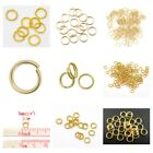 100x Gold Plated Alloy Open Jump Rings Findings Craft Single/dl 3 4 5 6 8 -12mm
