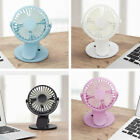 Rechargeable Battery Operated Clip On Mini Desk Fan Stroller Fan with USB#