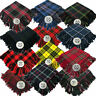 More images of Traditional Scottish Highland Acrylic Wool Tartan Fly Plaids with Thistle Brooch