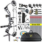 US 15-70Lbs 320fps IBO Compound Bow Archery Target Hunting Full Set Kit Practice