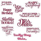 Letter Wishes Words Happy Birthday Metal Cutting Dies Stencils For Scrapbooking