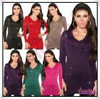Womens Long Jumper Sweater Ladies Pullover Casual Jumper Dress One Size 8-14 UK