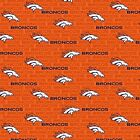 Denver Broncos Fabric by the Yard, by the Half Yard, Small Print, NFL Cotton Fab $9.95 USD on eBay