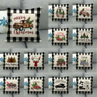 Xmas Truck Christmas Tree Animals Decor British Wind Pillow Case Cushion Cover $3.72 USD on eBay