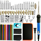1-71PCS Wood Burning Pen Set Stencil Soldering Tips Tools Pyrography Kit New HT#