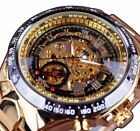 Luxury Men's Automatic Mechanical Waterproof Gold Stainless Steel Wrist Watch image