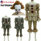 Stephen King's It Full Set Halloween Cosplay Costume Pennywise Clown Suit Joker
