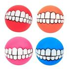 Dog Squeaky Sound Chew Ball Funny Teeth Toy 4 Colors for Large Medium Dogs