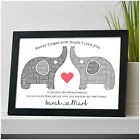 PERSONALISED Elephant Couples Gifts for Girlfriend Boyfriend Wife Anniversary