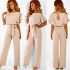 Plus Size Womens Bandage Holiday Long Playsuit Summer Beach Party Jumpsuit Pants
