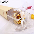 24K Rose Flower Handcraft Valentine's Day Gold Foil Dipped Long Artificial Rose