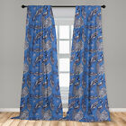 Peacock Microfiber Curtains 2 Panel Set Living Room Bedroom in 3 Sizes
