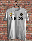 Men's Team INEOS Logo Short Sleeve White T-Shirt Size S to 2XL image