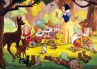 Snow White in the forest with the 7 dwarfs Quilting Fabric Block