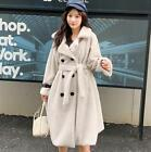 New Women's Coat Jacket Fur Loose Parka Trench Double-breasted Outwear Overcoat