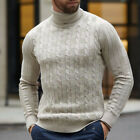 US Men's Winter Warm Knitted High Roll Turtle Neck Pullover Sweater Jumper Tops <br/> Casual Slim Fit✅Size S-2XL✅Plain Solid✅60 Days Return✅
