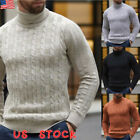 Kyпить US Men's Winter Warm Knitted High Roll Turtle Neck Pullover Sweater Jumper Tops на еВаy.соm