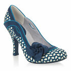 NEW Ruby Shoo Issy Cute Court Shoes Red White Spots / Blue Floral UK3-9 EU36-42