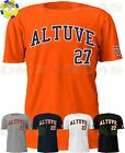 Houston Astros Jose Altuve 27 Jersey Tee T Shirt Men Size S-5XL on Ebay