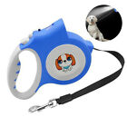 5M Retractable Dog Leash Light Flashlight Extending Puppy Walking Leads Protable
