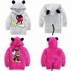 Kids Minnie Mouse Hoodie Jacket Coat Sweatshirt Pullover Tops Girls Boys Clothes