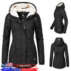 Womens Thicken Hooded Warm Coat Jacket Trench Outwear Winter Long Parka Overcoat