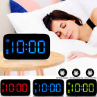 Large Digital LED Alarm Clock Snooze Night Backlight Desktop Table Clock USB